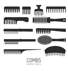 Combs icons vector