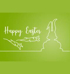 Easter linear banner vector