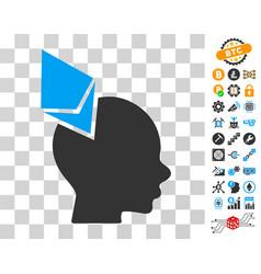 Ethereum penetrated head icon with bonus vector