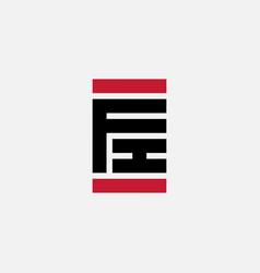F and i - initials or logo fi - design element vector
