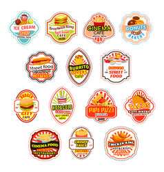 Fast food meals fastfood icons vector