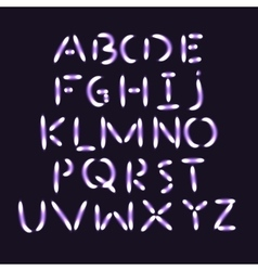 Flash light alphabet vector image