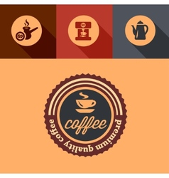 flat premium coffee design vector image