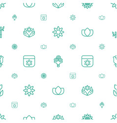 floral icons pattern seamless white background vector image