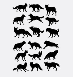 fox animal silhouette vector image