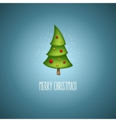 Funny christmas trees vector