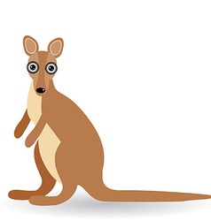 Funny kangaroo on a white background vector