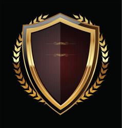 Golden shield 2 vector