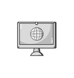grayscale screen electronic equipment with global vector image