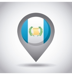 Guatemala flag pin vector