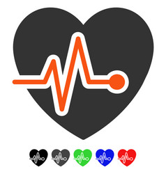 heart pulse flat icon vector image