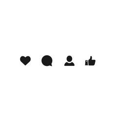 Icon like comment user thumb up social media dark vector