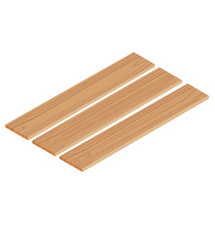 isometric wooden planks vector image