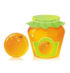 Jar of orange marmalade vector