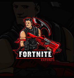 Jonesy fortnite mascot logo vector