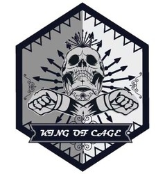 King of cage tshirt design for mma vector