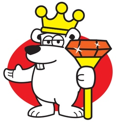 King Polar Bear vector image