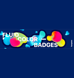 liquid color banner fluid shapes abstract vector image