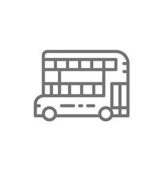 london double-decker bus traditional public vector image