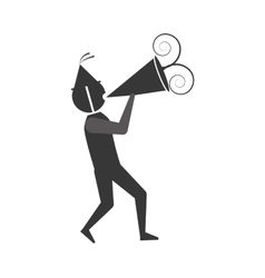 man with party megaphone icon vector image