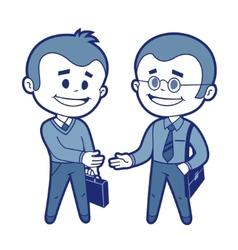 Meeting of two businessmen vector