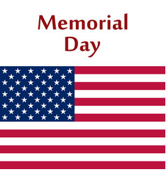 Memorial day in united states vector