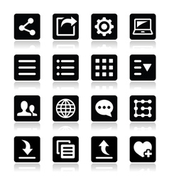 Menu settings tools icons set vector image