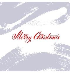 merry christmas logo handwritten lettering vector image