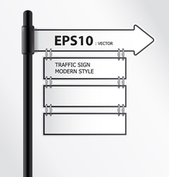 modern traffic sign vector image