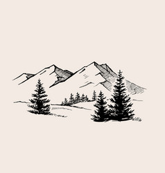 mountain landscape nature vector image