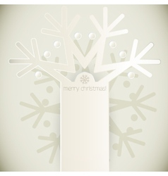 New Year snowflakes greeting card vector image