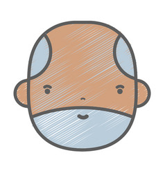 Nice businessman face to kawaii avatar vector