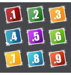 Numbers stamps set vector image