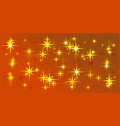 orange background with light stars vector image