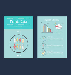 people data and business vector image