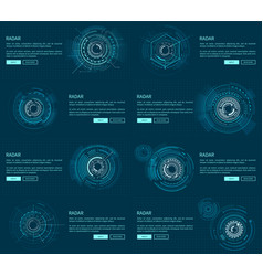 Radar webpages collection vector
