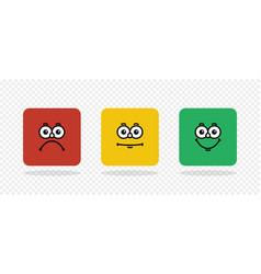 rating emoji feedback concept feedback in form of vector image