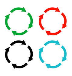 round line and arrow color circle i vector image