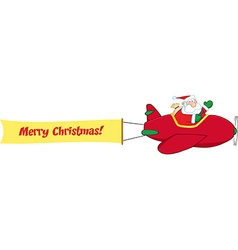 Santa flying plane vector
