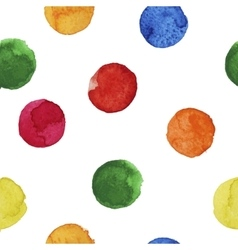 seamless background of colorful watercolor circles vector image vector image