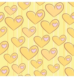 Seamless Valentines Day pattern with hearts vector image