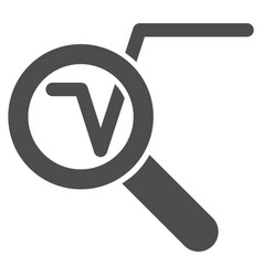Search math solution icon vector