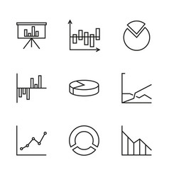 set chart vector image