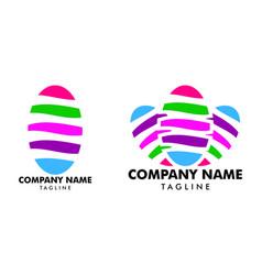 set nail art studio logo template design vector image