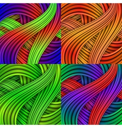 Set of Colorful striped backgrounds vector image