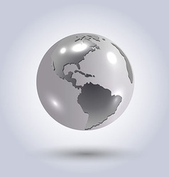 Silver earth vector