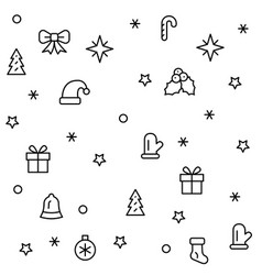 simple christmas seamless pattern with symbols vector image