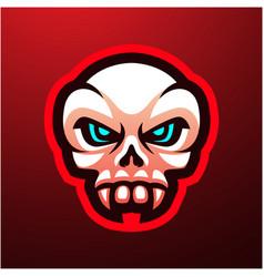 skull head mascot logo vector image
