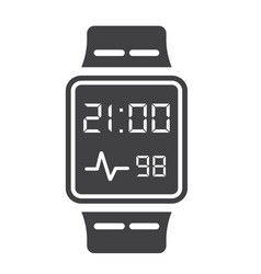 Smart watch solid icon gadget and device vector