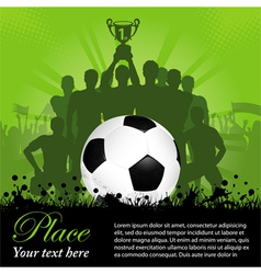 Soccer Winning team vector image